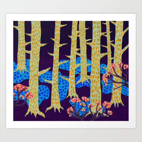 Blåbär / Blueberry Art Print