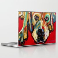 lab Laptop & iPad Skins featuring Yellow Lab by Juliette Caron