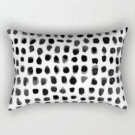 Watercolor Dots Rectangular Pillow