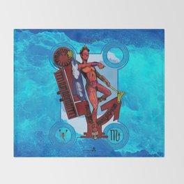 "Ars Tarot of the 12 Zodiac: ""Scorpio - Death"" Throw Blanket"