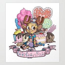 cotton candy prince Art Print