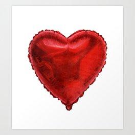 Helium Heart Art Print
