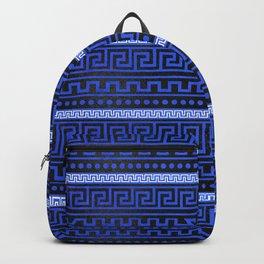 Traditional Greek Meander Pattern Backpack