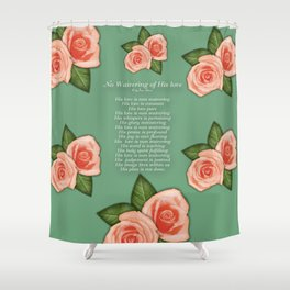 No Waivering of His love By Feon Davis Shower Curtain
