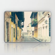 Summer Town (Retro and Vintage Urban, architecture photography) Laptop & iPad Skin