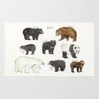 bears Area & Throw Rugs featuring Bears by Amy Hamilton