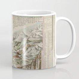 Vintage Print - Comparative Chart of the World's Principal Mountains, Rivers and Waterfalls (1826) Coffee Mug
