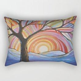 Abstract Art Landscape Original Painting ... Mountain Majesty Rectangular Pillow