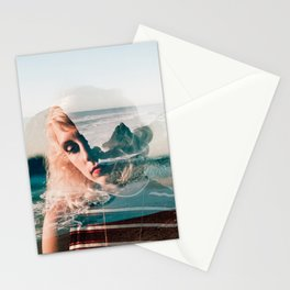 Daydreaming on the Oregon Coast - Double Exposure Film Photograph Stationery Cards