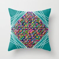 knit Throw Pillows featuring Diamond Knit by Glanoramay