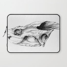 Snapping Turtle Skull Laptop Sleeve