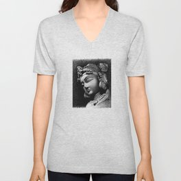 Woman Face Unisex V-Neck