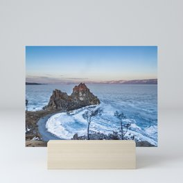 Shaman Rock on Olkhon Island, Baikal Mini Art Print