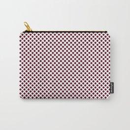 Garnet Polka Dots Carry-All Pouch