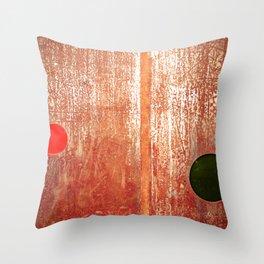 Metallic Face (Red Version) Throw Pillow