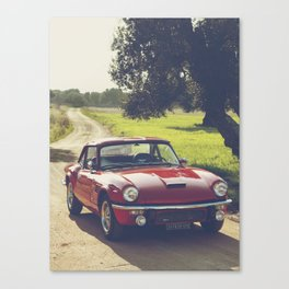 Triumph spitfire, classic english sports car, hasselblad photo Canvas Print