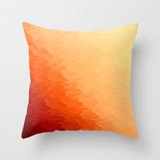 Orange Texture Ombre Throw Pillow