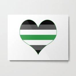 Agender Heart Metal Print