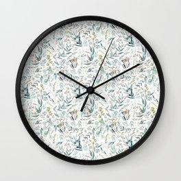Little Eucalyptus Wall Clock