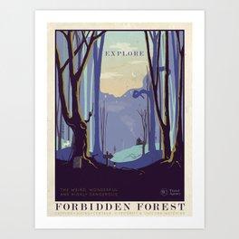 Explore The Forbidden Forest Art Print