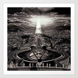 Vatican Rocking View Black and White Art Print