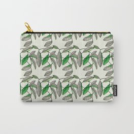 Watercolor Leaves Carry-All Pouch