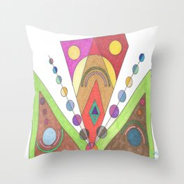 Mecha Man Throw Pillow
