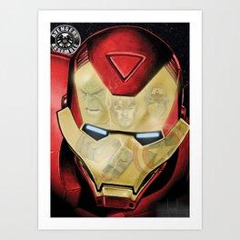 Avengers Reflection Art Print