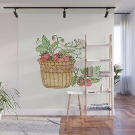 Strawberry Basket Wall Mural