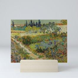 Vincent van Gogh - Garden at Arles (1888) Mini Art Print