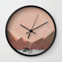 alone Wall Clocks featuring alone by Amit Shimoni