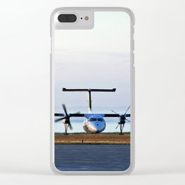 Plane Landing Clear iPhone Case