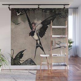 """Thumbelina"" Fairy Tale by W Heath Robinson Wall Mural"