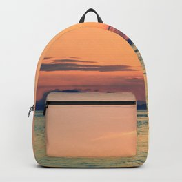 Pastel Sunset Calm Blue Water Backpack