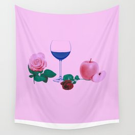 Date Night in Pink Wall Tapestry