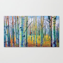 Aspen Trees in the Fall Canvas Print