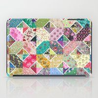 quilt iPad Cases featuring Betty's Diamond Quilt by Rachel Caldwell