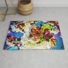 Flower magic - Abstract in Perfection Rug