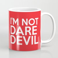 daredevil Mugs featuring I'm Not Daredevil by allbroke