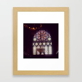 Stained Glass Church Framed Art Print