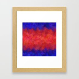 Red Pink Blue Color Explosion Abstract Framed Art Print