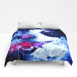 jack russell terrier dog crazy eyes ws cb Comforters