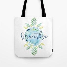 Breathe - Watercolor Tote Bag
