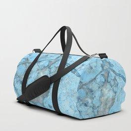 Ocean Blue Mermaid Marble Duffle Bag