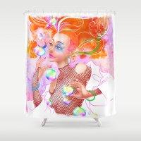 sandman Shower Curtains featuring Delirium by artofcarmen
