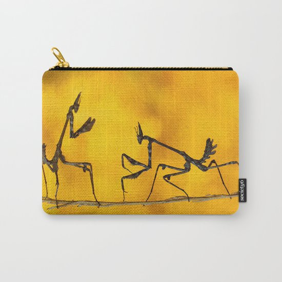Praying Mantis vs Praying Mantis Carry-All Pouch