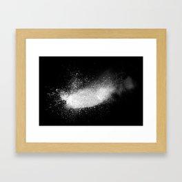 white dust explosion Framed Art Print