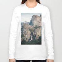 yosemite Long Sleeve T-shirts featuring Yosemite Waterfall by Laura Ruth