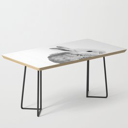 Black and White Bunny Coffee Table