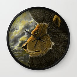 Eagle Feathered Lion Wall Clock